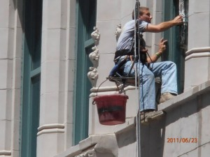 window cleaning Kansas City high rise