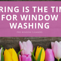 Spring is the Time for Window Washing